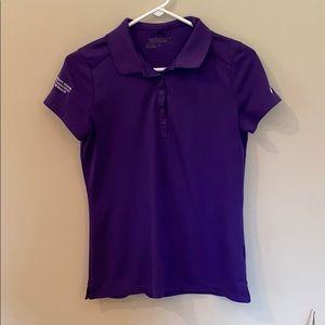 EUC Nike Golf Dri-fit Polo Purple Sz Med